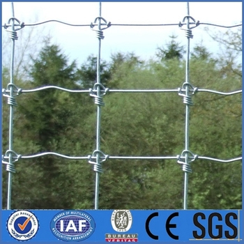 Galvanized Steel High Tensile Wire Field Fence Of Hinged