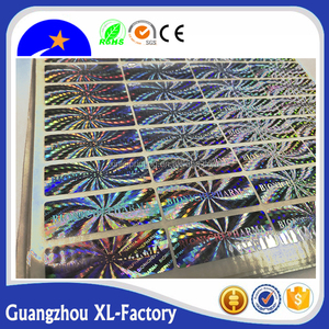 Guangzhou vendor flexo printing matte finish hologram custom adhesive cd dvd label sticker