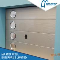 Steel security garage sliding screen door
