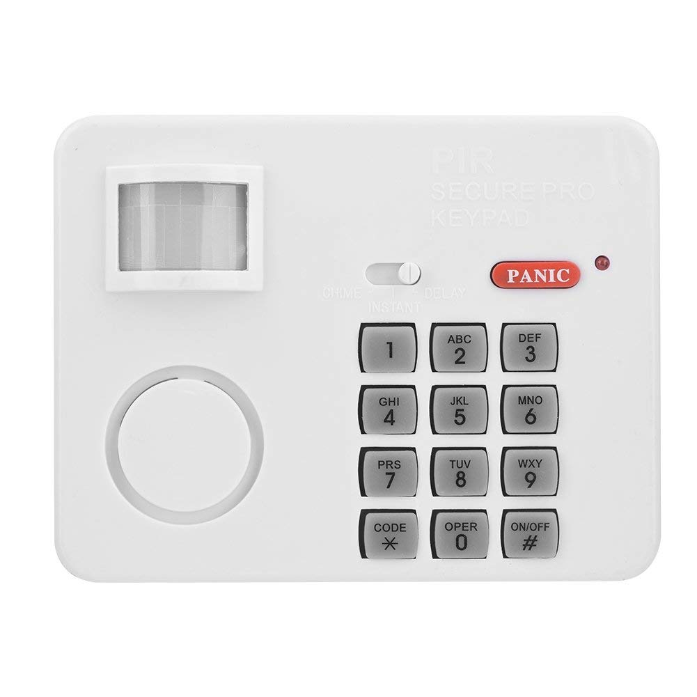 105DB Password Wireless Home Security Emergency Keypad Alarm Siren, Zerone 105° Alarm PIR Motion Sensor Detectors Door Window Home Security System