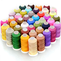 LONGJIE wholesale 100 colors bright nylon 3 strands thread 1800m environmental dyeing colorfast woven thread for tassel