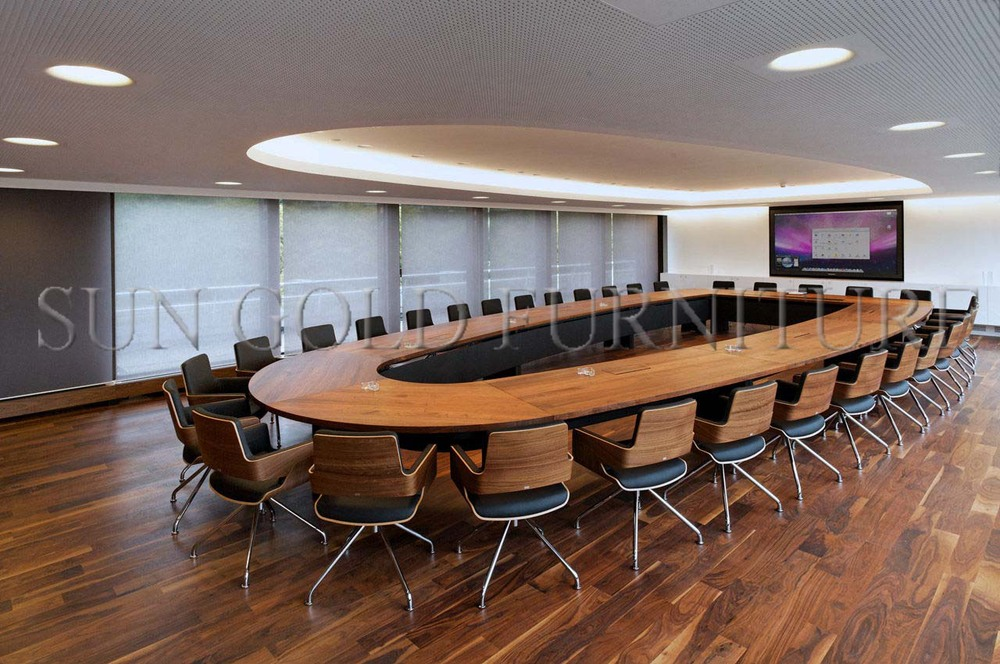 Luxury Conference Room Large Office Oval Meeting Table