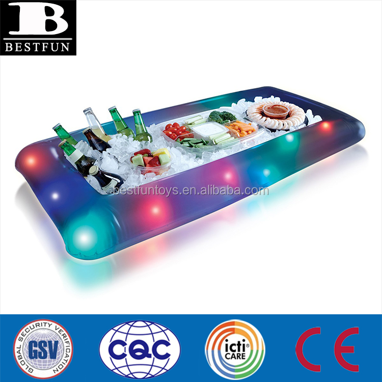 High Quality Inflatable Light Up Buffet Cooler Plastic Folding ...