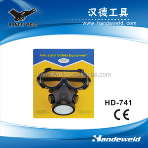 Dust mask and safety goggle set