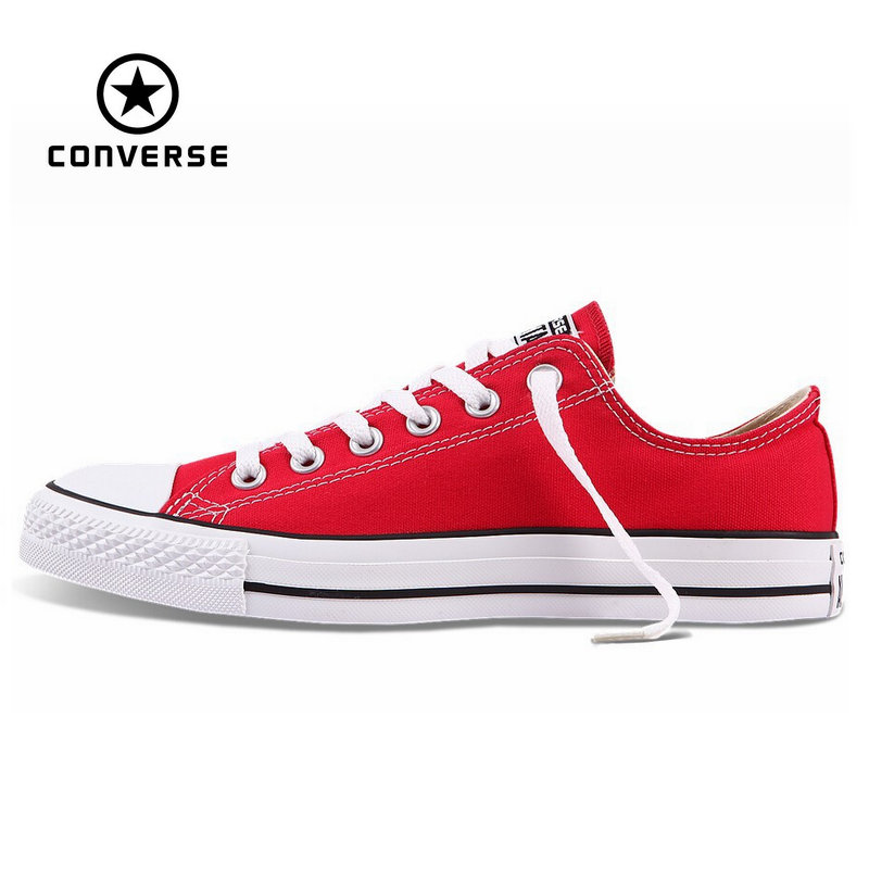 4ad679c920b7 Original Converse all star canvas shoes women man unisex sneakers low  classic women Skateboarding Shoes red color free shipping