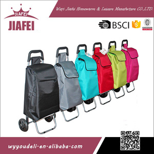 best quality 600D oxford cloth with two eva wheels foldable shopping bag market trolley bag