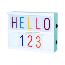Wedding Decoration Gift Rectangle Shape ABS Material Customisable LED Cinema Interchaeable Letters A5 Mini Tiny Light Box Sign