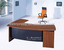 India design L shape office manager director executive table, wooden panel office manager executive desk
