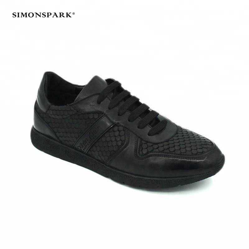 black 2018 Hot leather Brand sneaker men sport high class casual genuine sale shoes PrX5q7wxP
