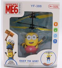 2017 hot selling mini infrared induction flying minion for kids