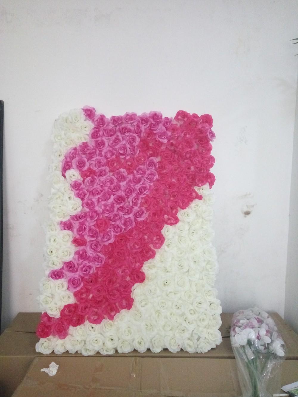 Indoor of outdoor bruiloft decoratie bloem kunstmatige muren voor hotel decoratie nep bloem muur - Decoratie voor muren ...