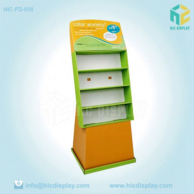 Custom printing Pop newspaper&magazine display holder Scrapbooking paper storage display rack