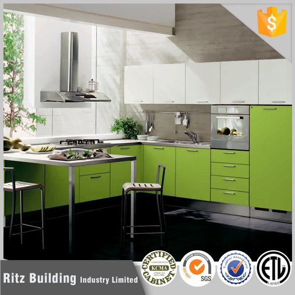 Green Kitchen Cabinets,High Level Design Kitchen Cabinet - Buy Green ...