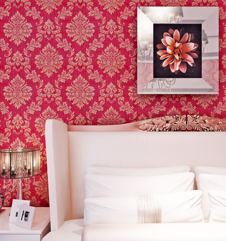 Hot selling popular beautiful red wall paper btl pvc wallpaper gm klang