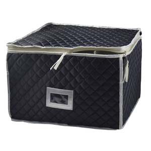 Stemware Storage Chest - Deluxe Quilted Case with Dividers