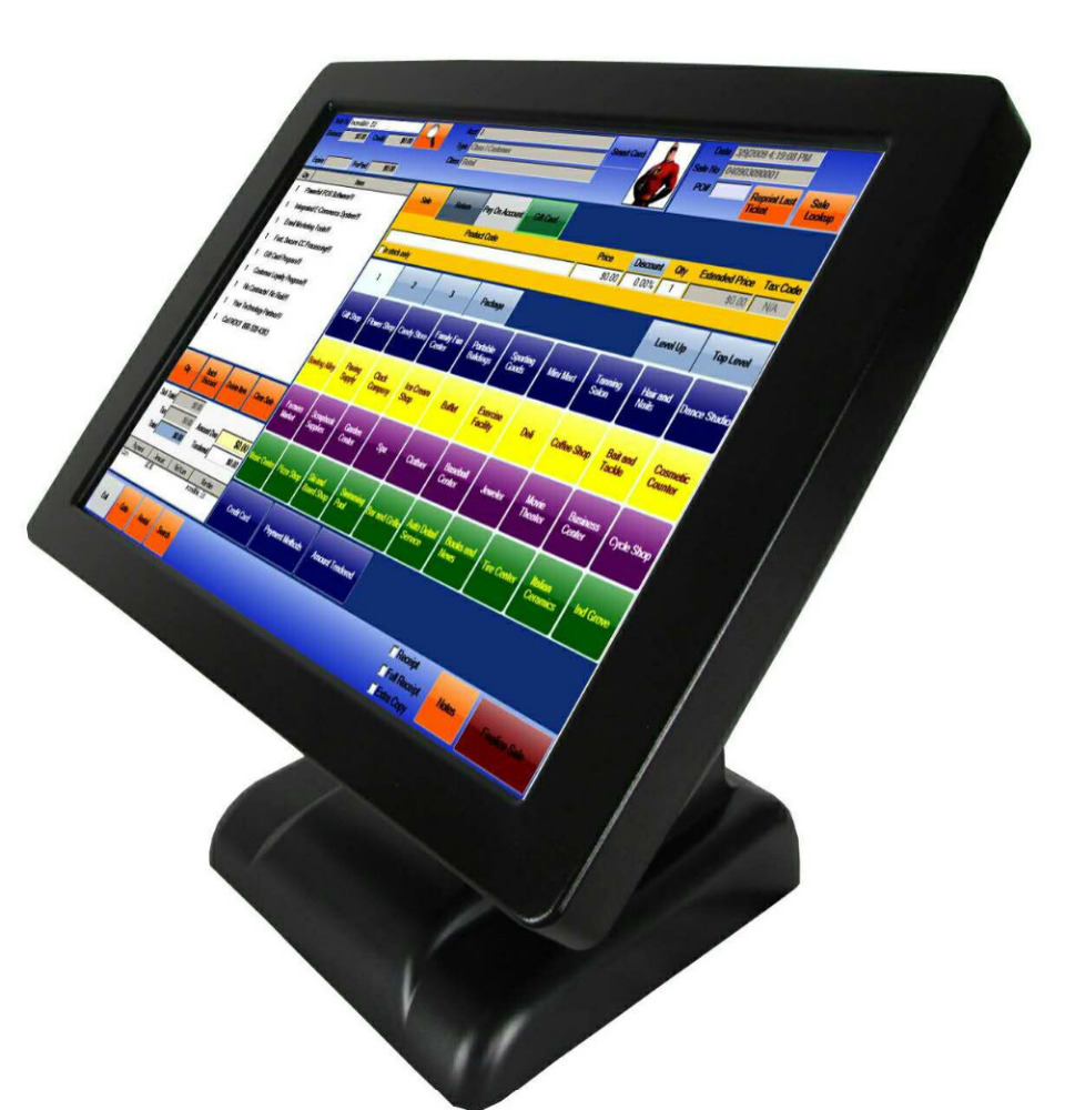 2016 new model Payment terminal all in one touch screen pc pos for supermarket, restaurants, shops, hotels, gas stations
