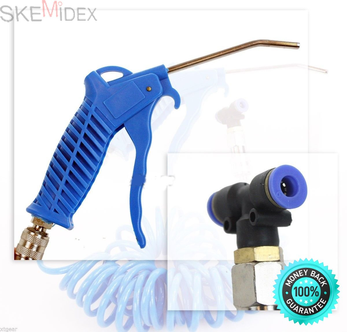SKEMiDEX---Professional Heavy Duty Air Duster Blow Gun Cleaner Kit Lorry Cleaning Nozzle Nw. Professional Heavy Duty Air Duster Blow Gun Cleaner Kit Lorry Cleaning Nozzle New