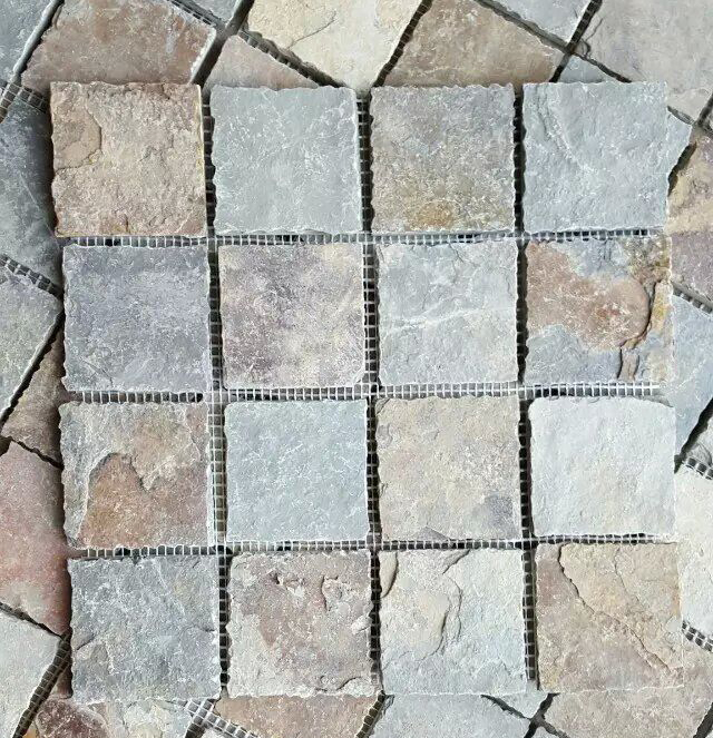 Natural Outdoor Slate Stepping Stones Paver Mosaic with top quality