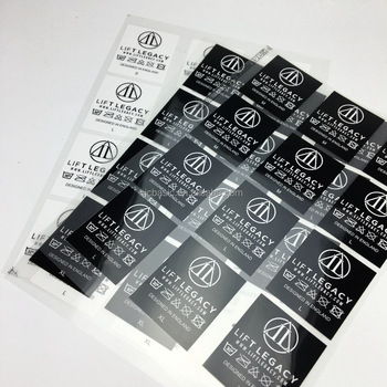 China supplier lovely beauty garment label heat transfer