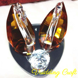 Unique Crystal Swan Table Decoration For Wedding Party