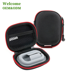 KID black nylon storage hard shell headphone case eva earphone case