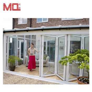 Leisure Room Glass Aluminumaluminium Folding Door In Modern Design