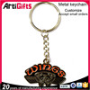 Gold plated cheap custom keychain manufacturer in china