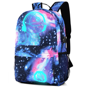 Five style Outdoors USB High School Luminous Backpack