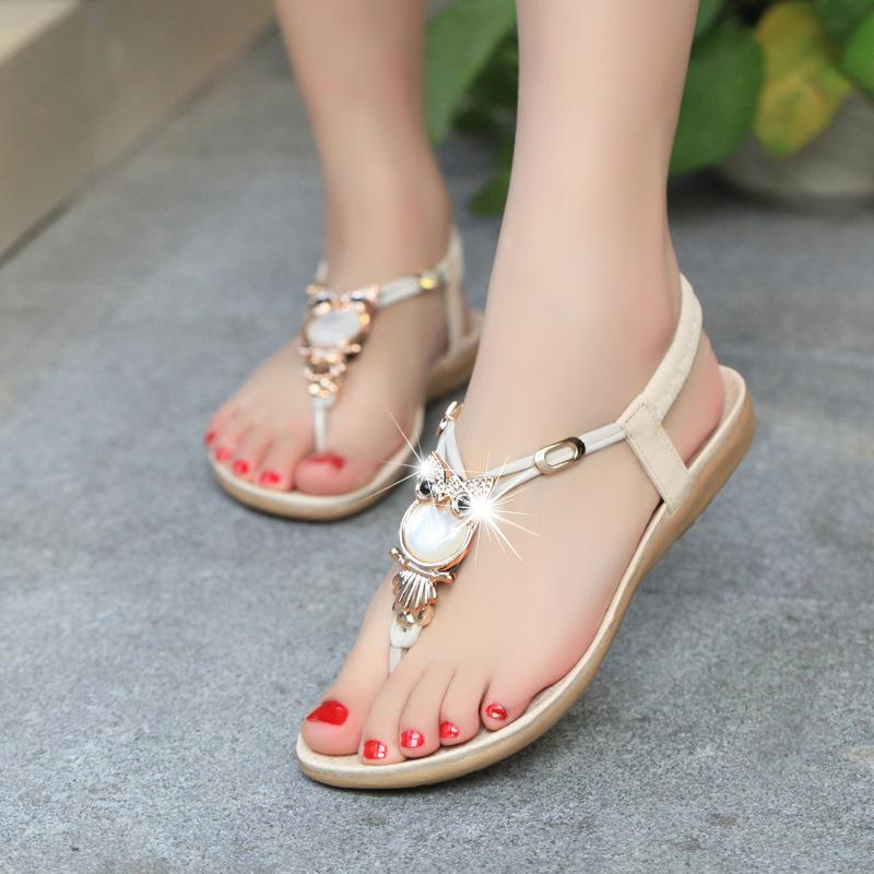 7c4693d3b16fe Popular Summer Shoes Woman Flat Sandals-Buy Cheap Summer Shoes Woman ...