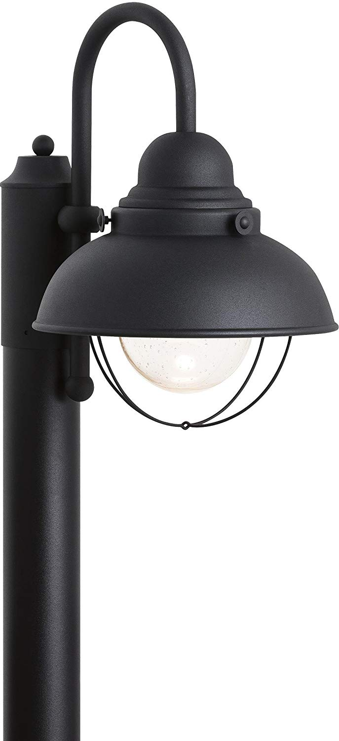 Sea Gull Lighting 826993S-12 Sebring Outdoor Post Mount, 1-Light LED 14 Watts, Black