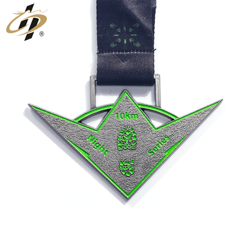 Hot design die cut antique silver custom night luminous marathon medals