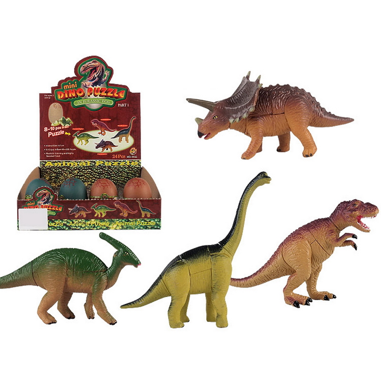 mini toy dinosaur plastic assemble animal toys
