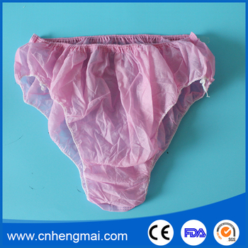 a482f613e5ea China Supplier Massage Disposable Underwear Travel Pregnancy Panties Briefs  Pink Manufacturer