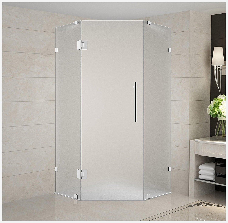 Frameless neo angle shower doors tavistock q60 back to wall pan