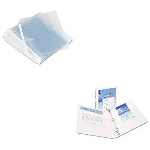KITAVE19601UNV21125 - Value Kit - Avery Economy Showcase View Binder with Round Rings (AVE19601) and Universal Top-Load Poly Sheet Protectors (UNV21125)