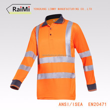 Newest High Performance Reflective color combination man polo t-shirt