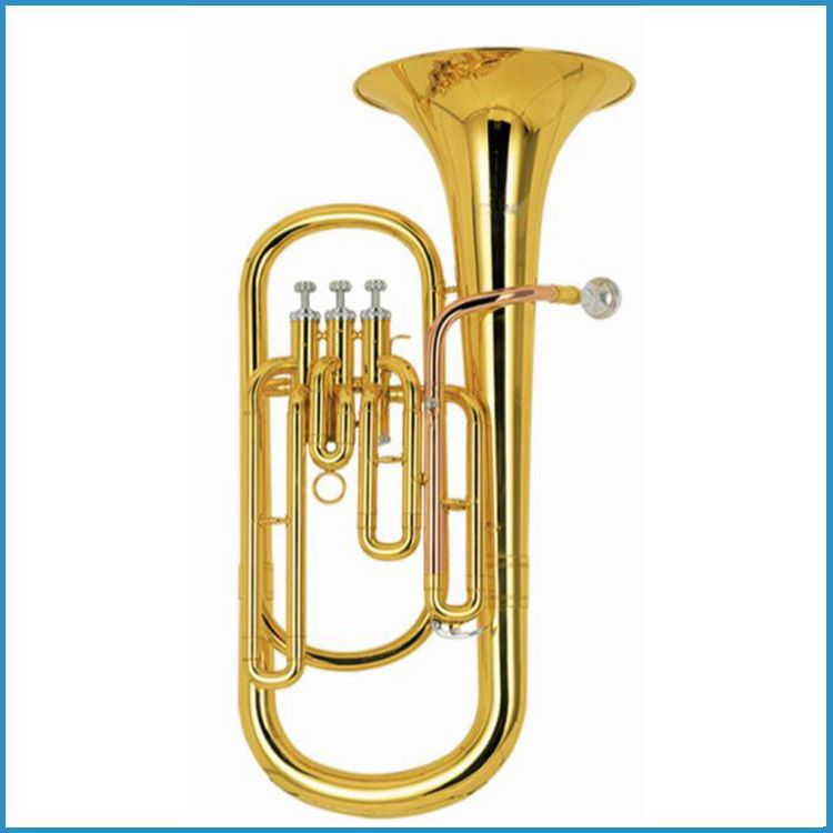 100% new baritone horn Bb key, piston keys brass baritone, baritone music instrument