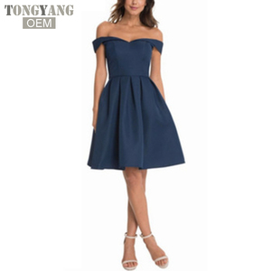 TONGYANG Women Party dresses 2018 Summer Off Shoulder Elegant Evening Sexy Club Dresses Backless Mini Dress