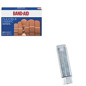 KITCOS091460JOJ4444 - Value Kit - Retractable Jiffi Cutter Utility Knife (COS091460) and Band-aid Flexible Fabric Adhesive Bandages (JOJ4444)