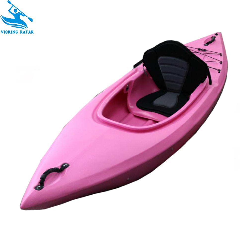 8.7ft Long Riber White Water Tourer Black Blue One Person Sit In Kayak