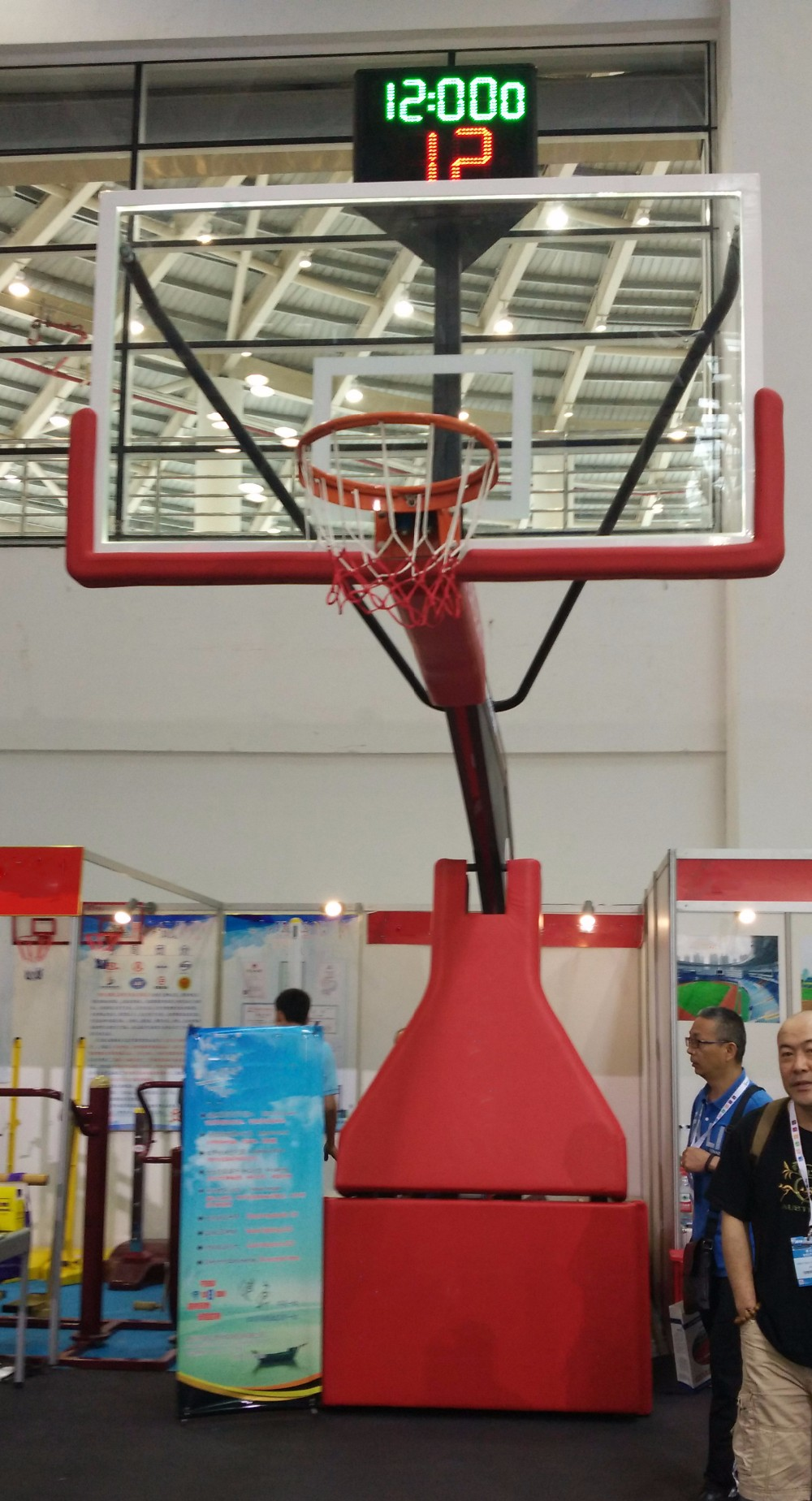 Certified Professional Competition Electric Hydraulic Basketball Hoops Customized