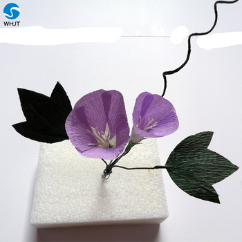 Birthday Gift Purple And White Making Stick Paper Flower Craft With