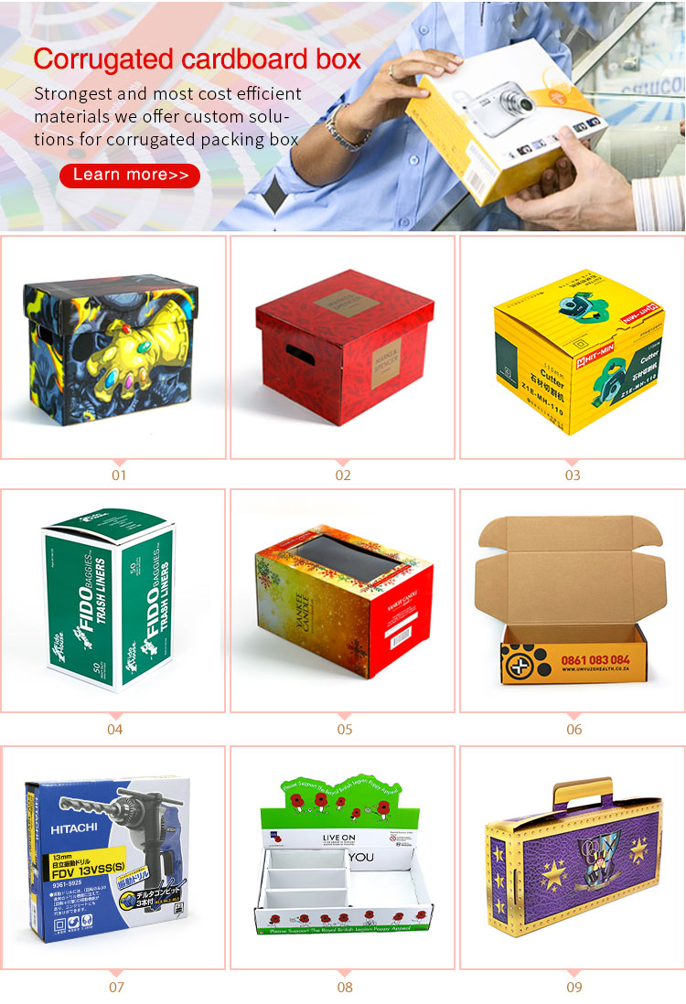 Eco-friendly Manufacturer cheap foldable printing paper packaging box
