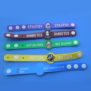 1a9e35804312 Epilepsia diabetes tuerca autismo alergia niños pulseras de la conciencia
