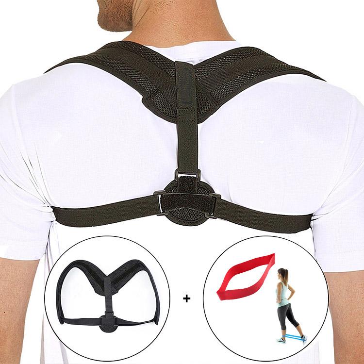 5 Size/Set Yoga Belt Stra+  Adjustable Posture Corrector Clavicle Shoulder Support Back Brace To Correct Posture, Black