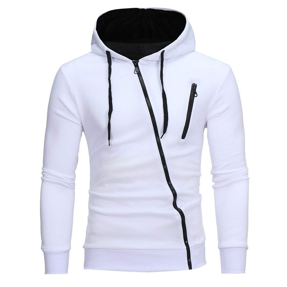 fbR8wawOKPHoYL9 Hoodie Jacket Coat, Men's Cool Side Zipper Hoodies Sweatshirt Tops Jacket Coat Outwear