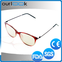 Double Colors New Model Stainless Steel Temple TR90 Glasses Trends