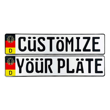 High quality embossed custom German number aluminum license plates blank