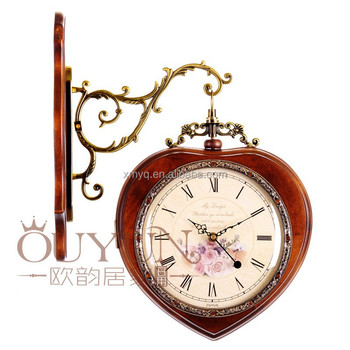 fancy design grass face wall clock analog wall clock old antique wall clock