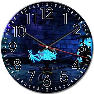 Round Wall Clock Disney Epic Mickey Quiet Big Custom Frameless Arabic Numbers 10 Inch / 25 cm Diameter